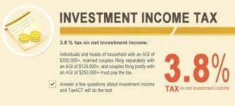 NIIT – Impuesto sobre el Ingreso neto de Inversiones. Impuestos americanos