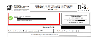 Modelo 720, Modelo ETE and Modelo D-6: Statements of foreign assets or transactions.