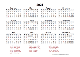 Important Tax Dates on 2021