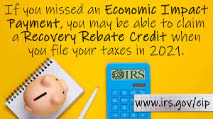 Claiming the recovery rebate credit on 1040 2020 Individual Tax Return