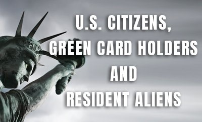 Are you a US Citizen and never lived, worked, or visited the U.S.?